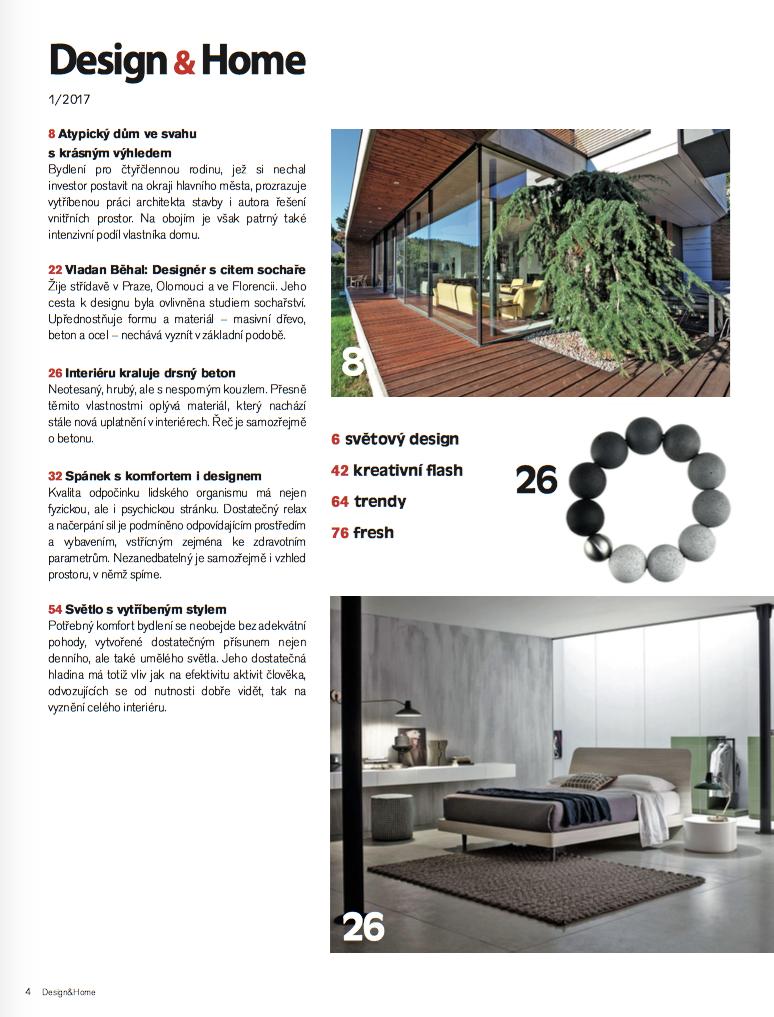 Obsah Design&Home 1/2017