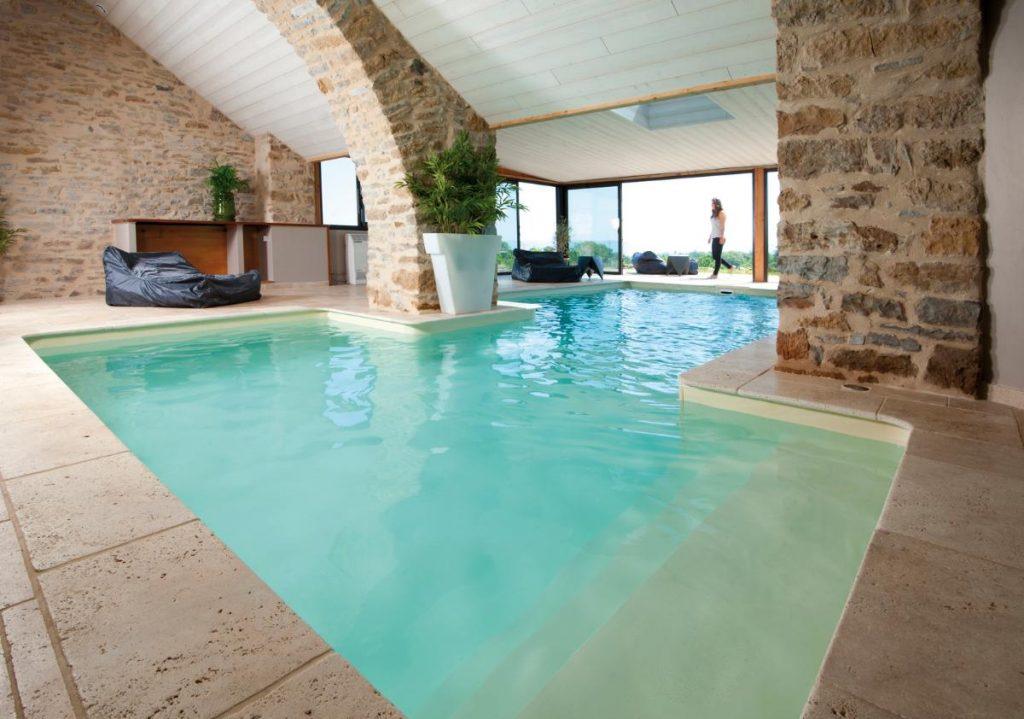 Železobetový bazén Jean atypického tvaru, Desjoyaux