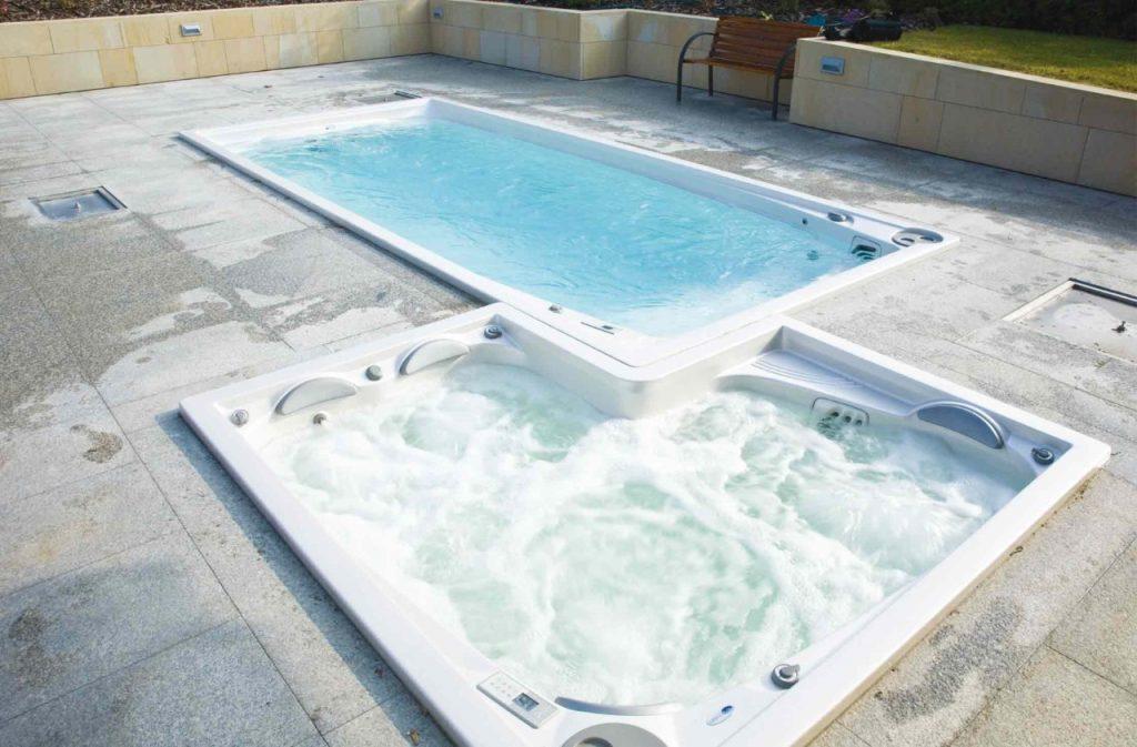 Kombinace Swim Spa XL a vířivky Lyra, USSPA