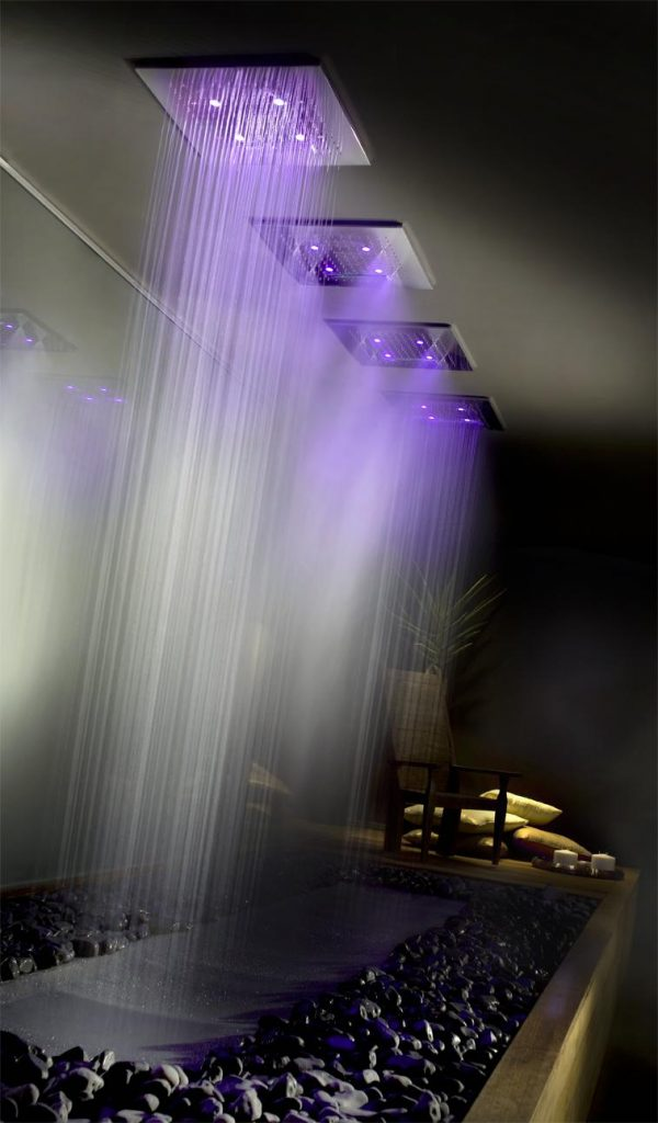 Sprcha s chromoterapií od Gessi - Mondo Ceramica