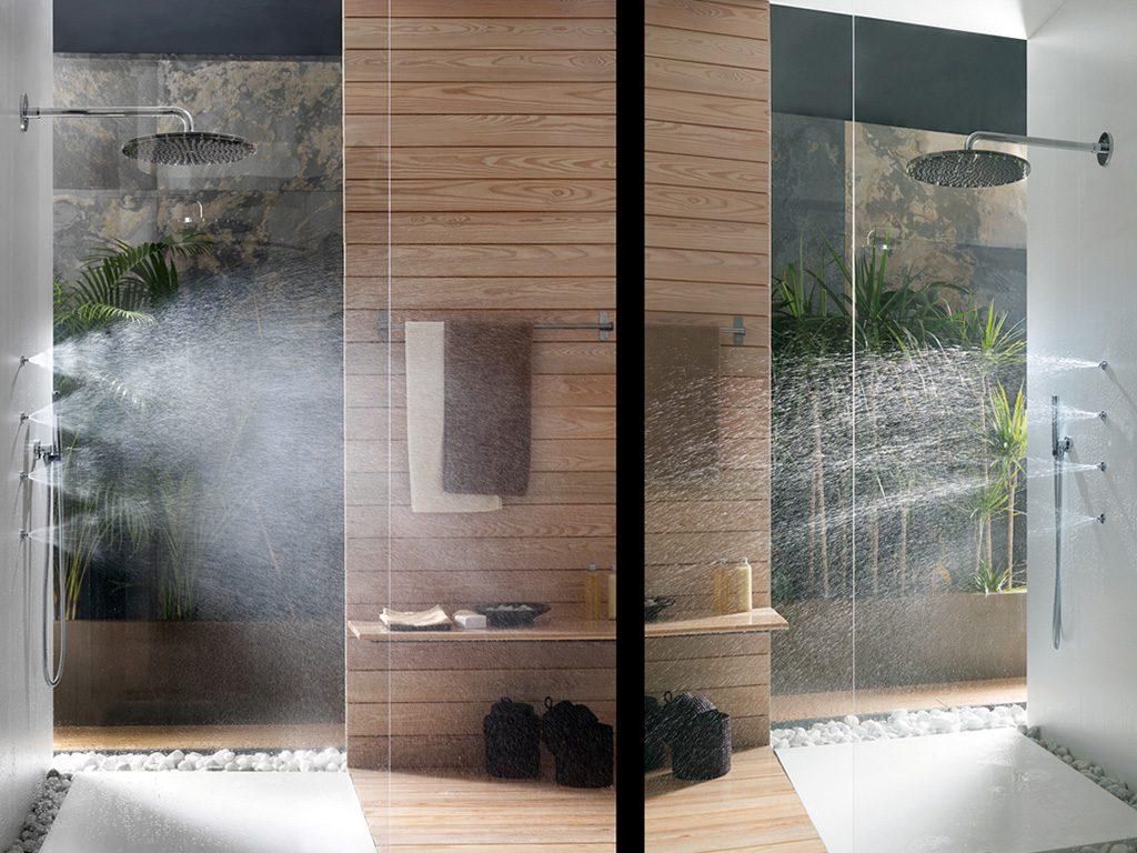 Sprchový a masážní komplet od Gessi - Mondo Ceramica