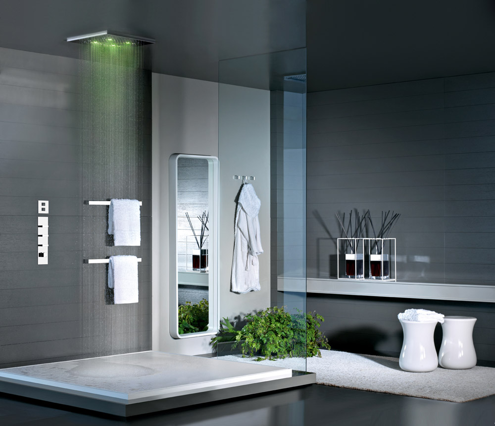 multifunkční sprcha s chromoterapií ze série Private wellness od Gessi, Design Bath SE