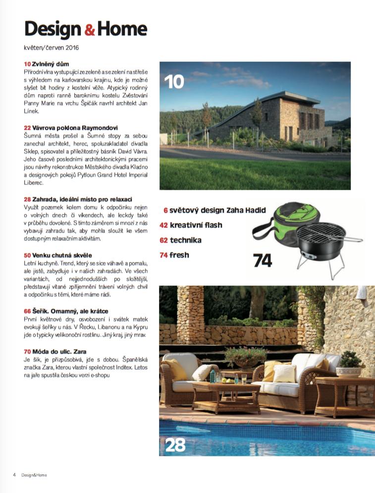 Obsah Design&Home 8-9/2016